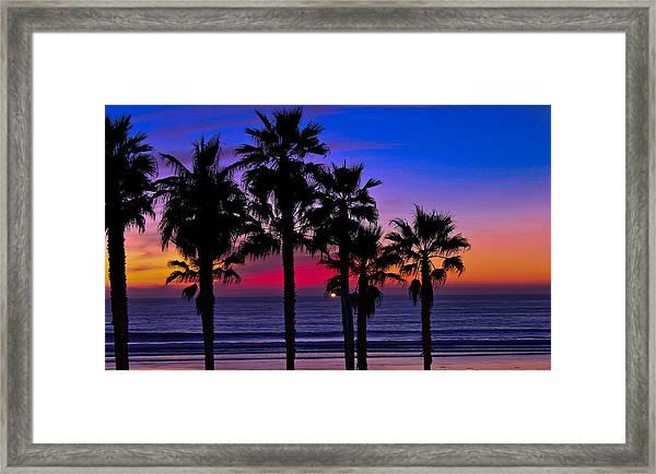 Sunset From The Ocean Park Inn Framed Print