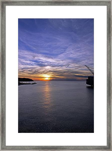 Sunset In Adriatic Framed Print