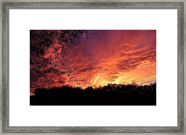 Sunset In Blue Ridge Foothills Framed Print
