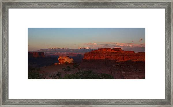 Sunset In Canyonlands National Park Framed Print