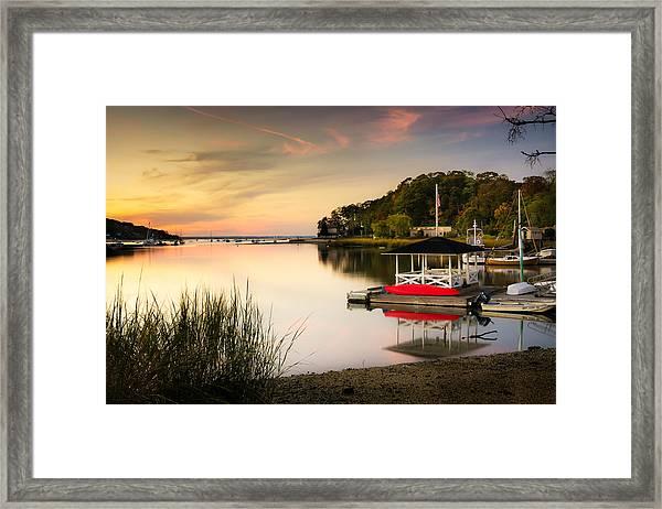 Sunset In Centerport Framed Print
