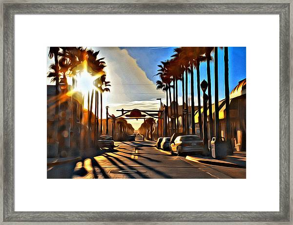 Sunset In Daytona Beach Framed Print