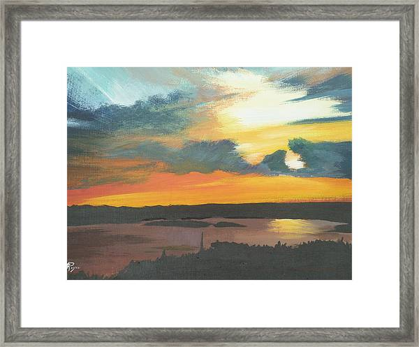 Sunset In Motion Framed Print by Lori Royce
