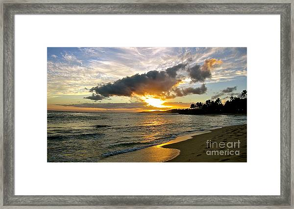 Sunset In Paradise Framed Print by Jason Clinkscales