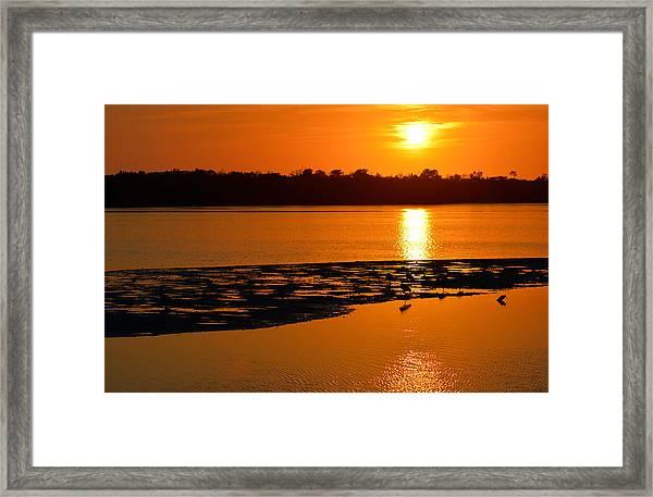 Sunset In Sanibel Framed Print