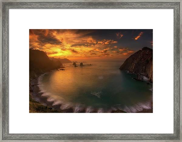 Sunset In Silence Framed Print by Alfonso Maseda Varela