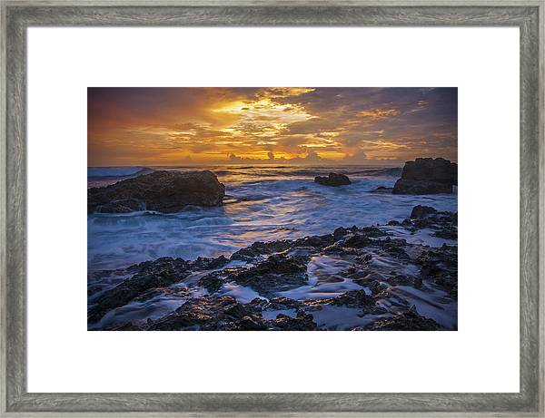Sunset In Tamarindo Framed Print