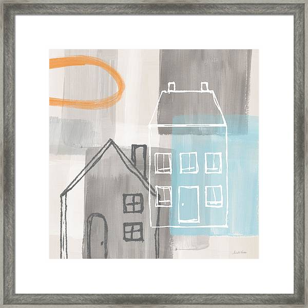Sunset In The City Framed Print