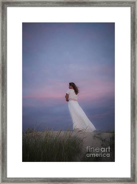 Sunset In The Dunes Framed Print