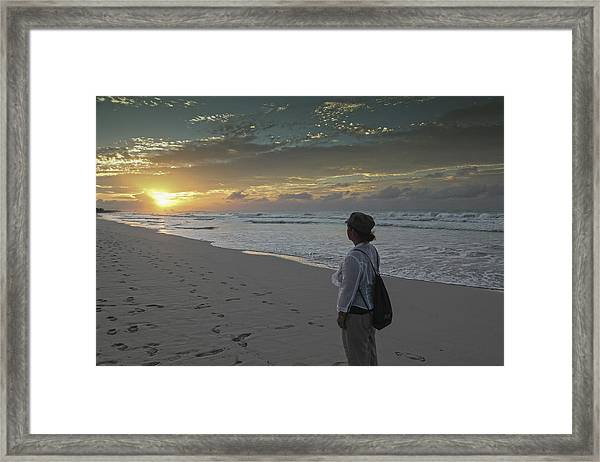 Sunset In Varadero Framed Print