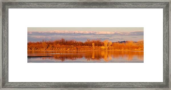 Sunset In Winter Framed Print