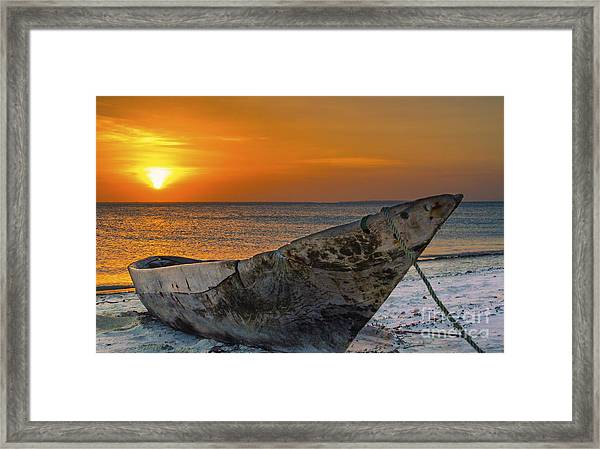 Sunset In Zanzibar - Kendwa Beach Framed Print by Pier Giorgio Mariani