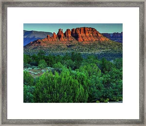 Sunset Landscape In Red Rocks State Framed Print