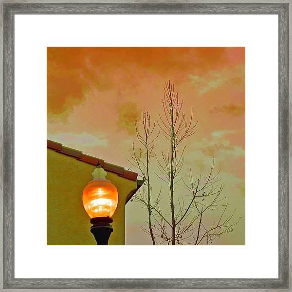 Sunset Lantern Framed Print