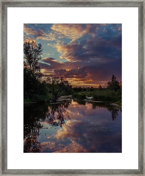 Sunset Mirror Framed Print