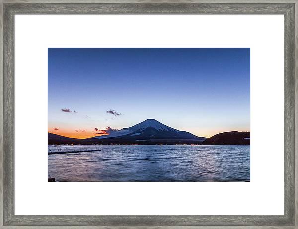 Sunset Mt. Fuji Framed Print