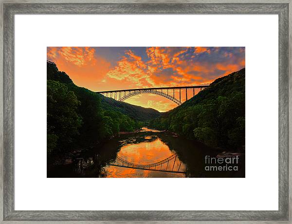 Sunset New River Gorge Framed Print