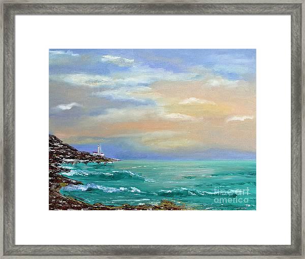 Sunset Framed Print by Olesya Rossoshinskaya