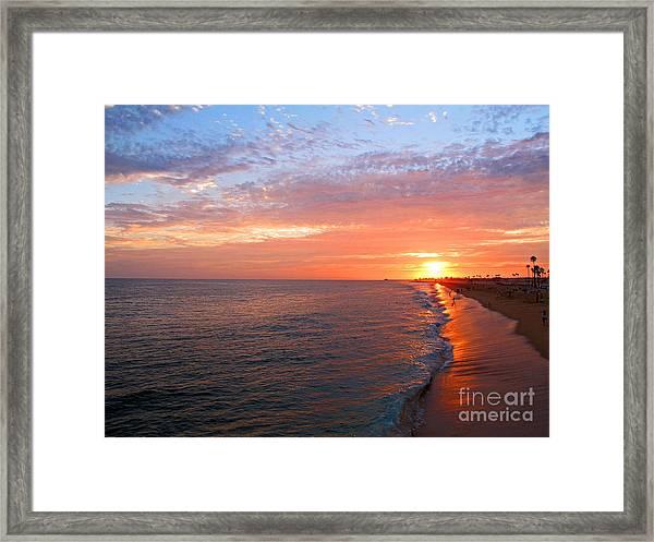 Sunset On Balboa Framed Print