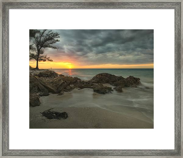Sunset On Bean Point Framed Print