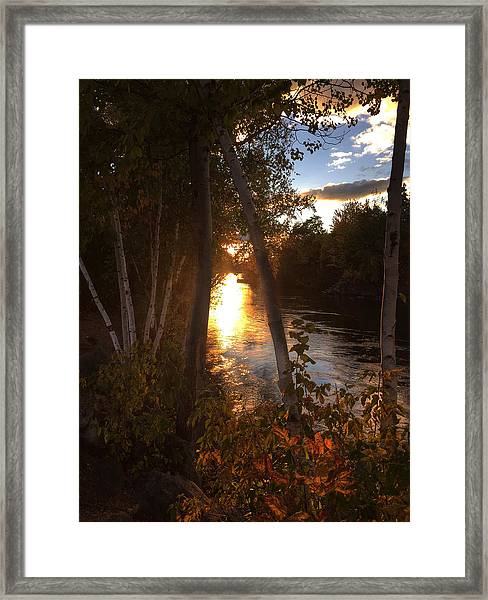 Sunset On Lake  Framed Print