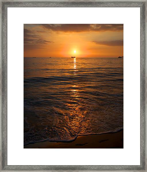 Sunset On Ma'alaea Bay Framed Print