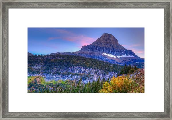 Sunset On Reynolds Mountain Framed Print