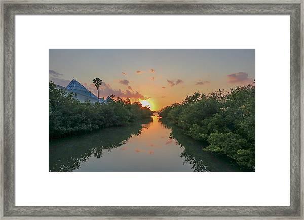Sunset On Sarasota Bay Framed Print