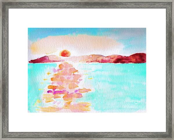 Sunset On The Bay Framed Print