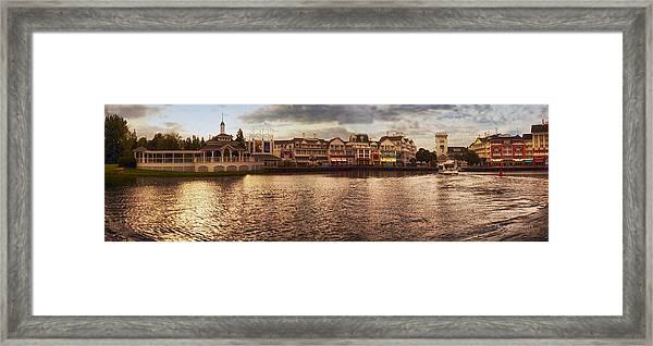 Sunset On The Boardwalk Walt Disney World Framed Print