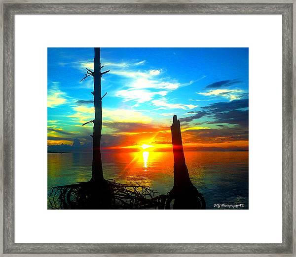 Sunset On The Island Framed Print