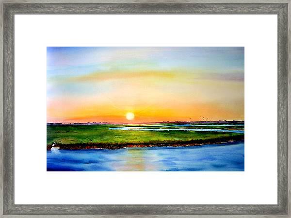 Sunset On The Marsh Framed Print