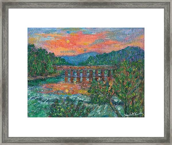Sunset On The New River Framed Print