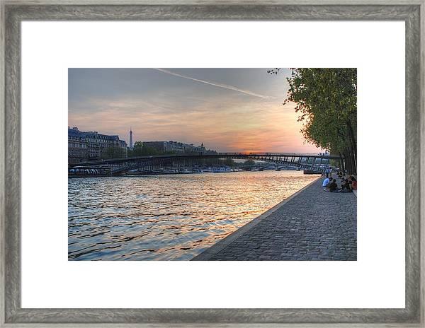 Sunset On The Seine Framed Print