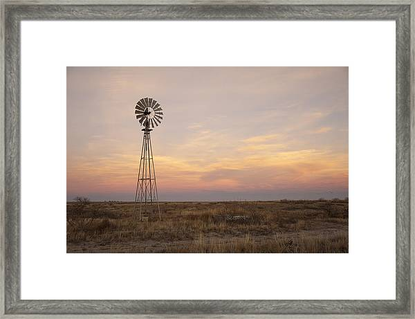 Sunset On The Texas Plains Framed Print