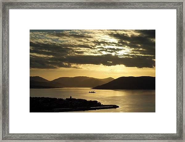 Sunset On The West Framed Print