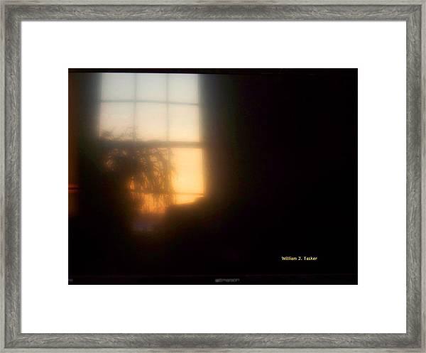 Sunset On Tv Framed Print
