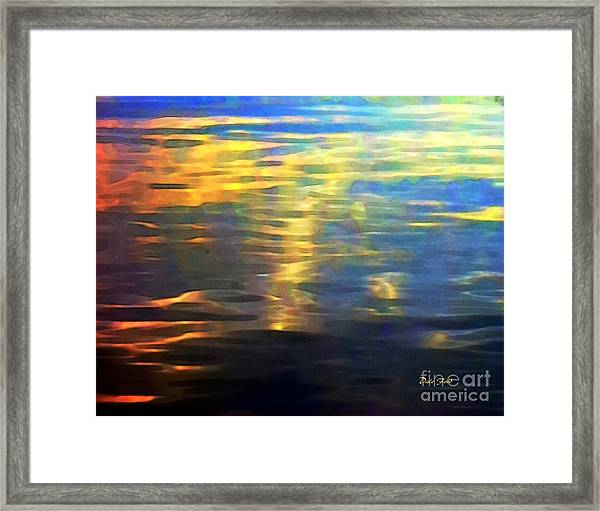 Sunset On Water Framed Print