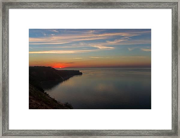 Sunset Over Ausable Point. Framed Print