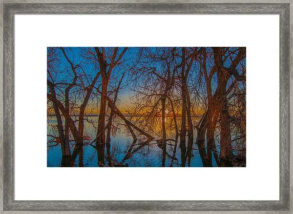 Sunset Over Barr Lake_2 Framed Print