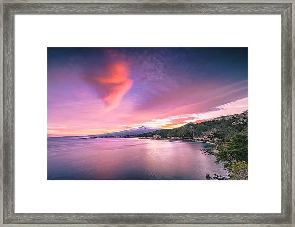 Sunset Over Giardini Naxos Framed Print