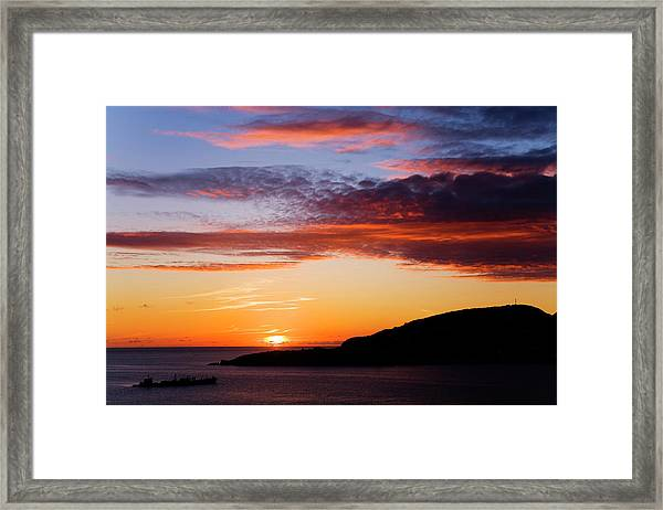Sunset Over Great Bay Framed Print