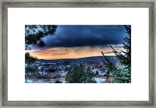 Sunset Over Hot Springs Framed Print