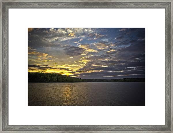 Sunset Over Kerr Lake Framed Print