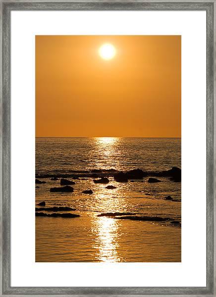 Sunset Over Kona Framed Print