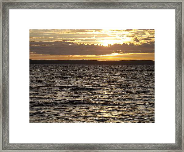 Sunset Over Lake Cazaux Framed Print by Tony Serzin
