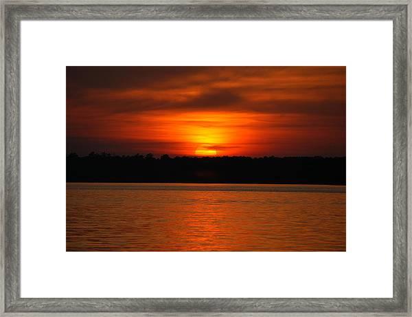 Sunset Over Lake Martin Framed Print