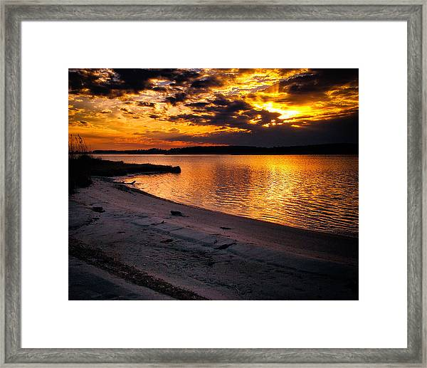 Sunset Over Little Assawoman Bay Framed Print