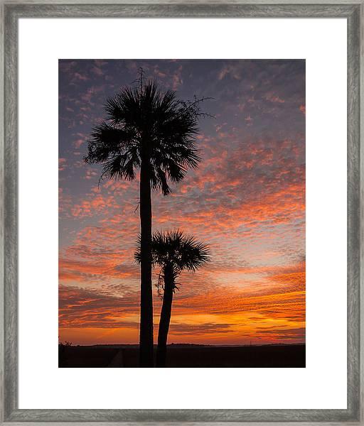 Sunset Over Marsh Framed Print