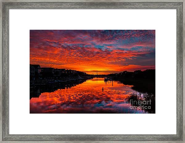 Sunset Over Morgan Creek - Wild Dunes Resort Framed Print